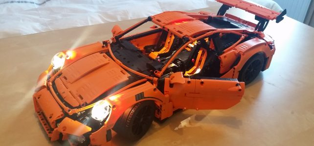 LEGO Technic Porsche 911 GT3 RS with lights