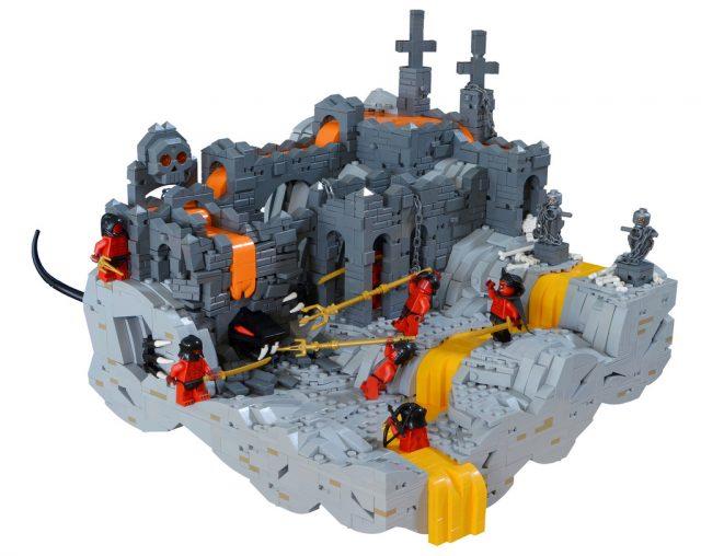 Ruines, lave et monstre