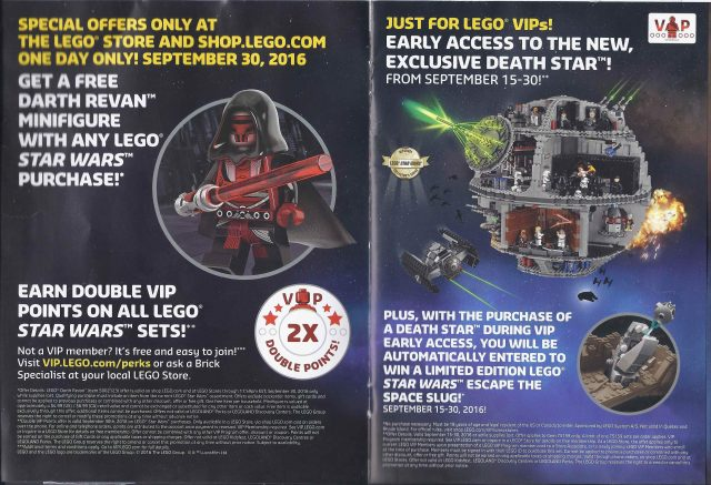 Force Friday 2016 Polybag LEGO Star Wars Darth Revan offert