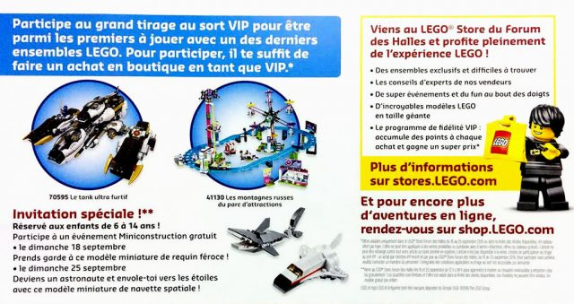Grand Opening LEGO Store Forum des Halles