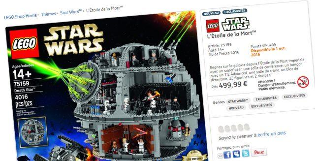 LEGO Star Wars 75159 UCS Death Star France