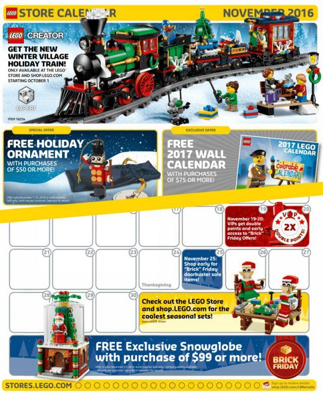 Store Calendar US Novembre 2016