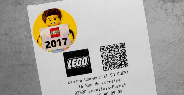 Sticker LEGO calendrier officiel 2017