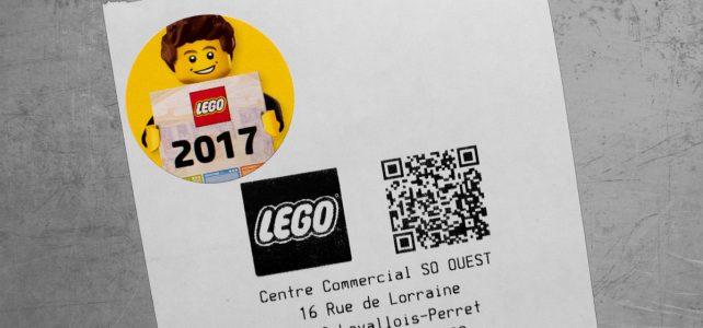 LEGO Store : un sticker pour le calendrier officiel 2017