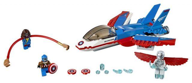 LEGO 76076 Marvel Super Heroes Captain America Jet Pursuit