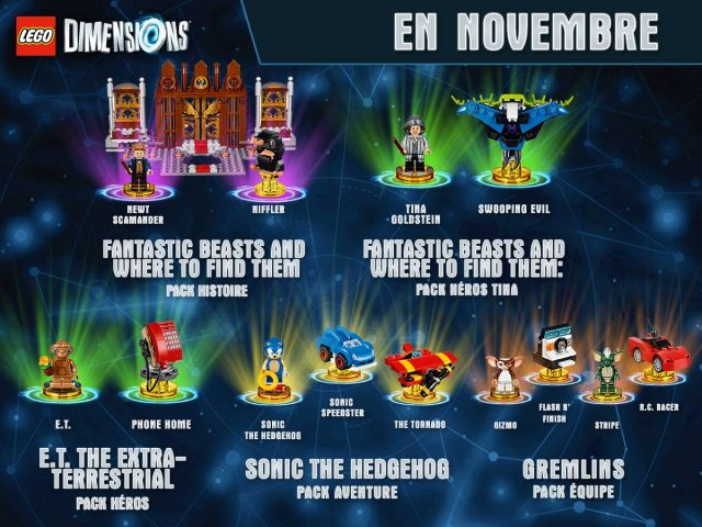 LEGO Dimensions packs Novembre Wave 8