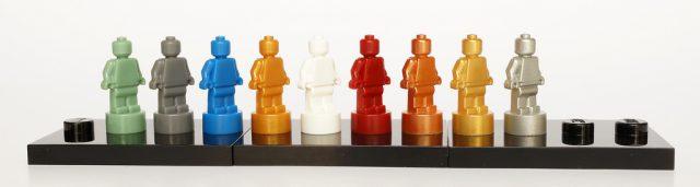 Microfigs monochromes statuettes LEGO