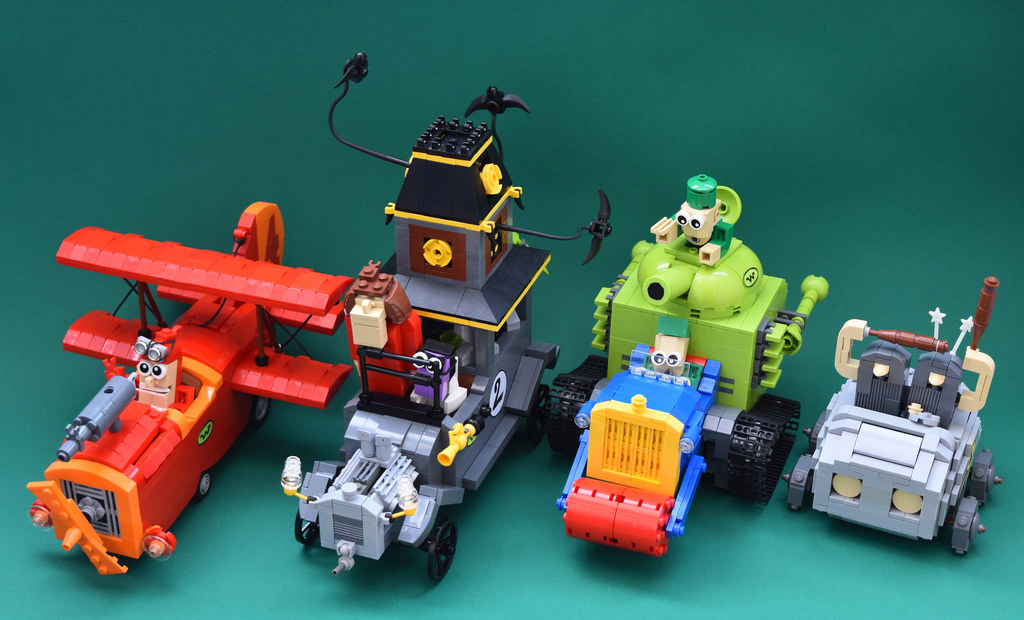 les fous du volant wacky races hellobricks blog lego. Black Bedroom Furniture Sets. Home Design Ideas