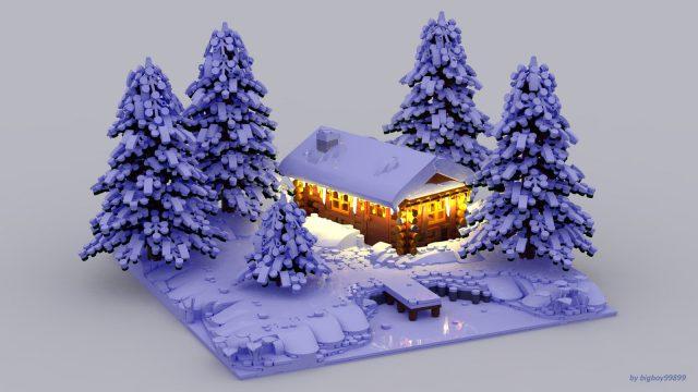 LEGO neige et sapins