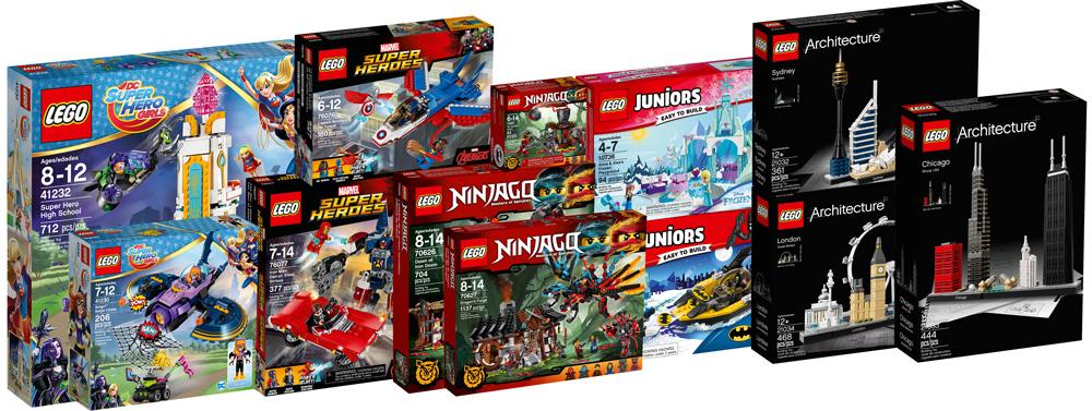 nouveaut s 2017 lego super heroes ninjago et architecture disponibles hellobricks blog lego. Black Bedroom Furniture Sets. Home Design Ideas