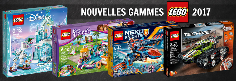 nouveaut s lego 2017 les gammes disney friends nexo knights et technic d j disponibles. Black Bedroom Furniture Sets. Home Design Ideas