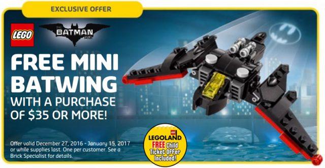 polybag LEGO 30524 Mini Batwing