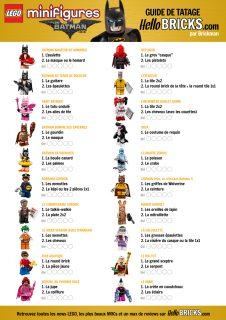 Guide tatage minifigs LEGO Batman Movie LEGO 71017