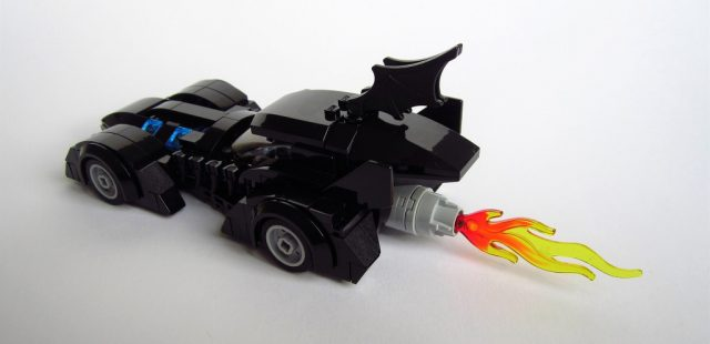 LEGO Batman Forever Batmobile on fire