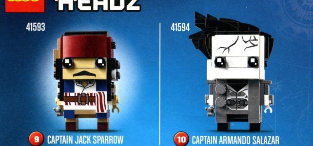 LEGO BrickHeadz Jack Sparrow et Armando Salazar (Pirates des Caraibes 5)