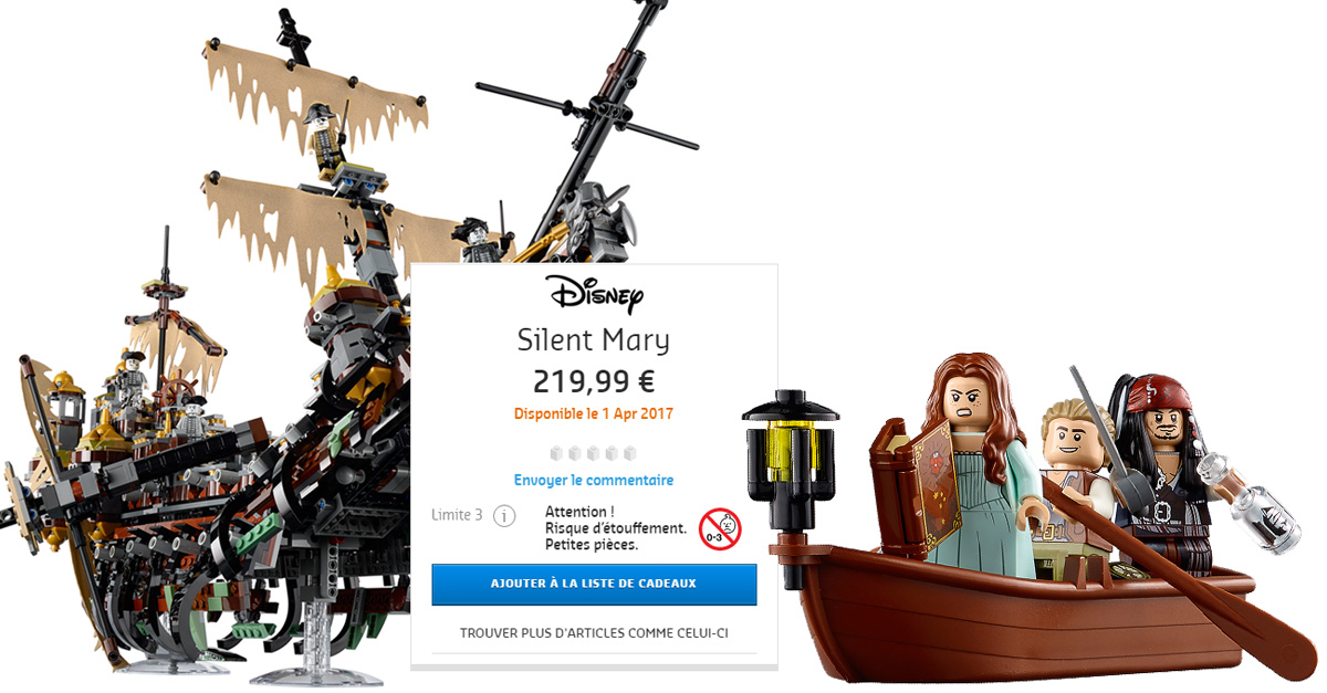 lego pirates des caraibes 71042 silent mary 219 99 en. Black Bedroom Furniture Sets. Home Design Ideas