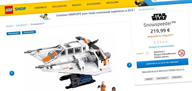 LEGO Star Wars 75144 UCS Snowspeeder