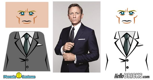 Phoenix Customs Interview Daniel Craig James Bond 007 LEGO custom version