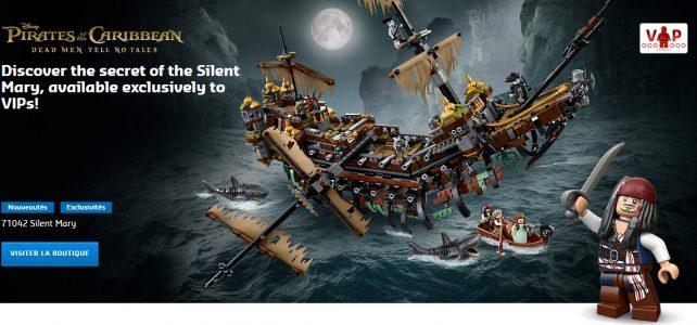 Pirates des Caraïbes LEGO 71042 Silent Mary disponible en avant-première VIP