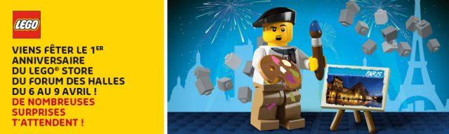 1er anniversaire du LEGO Store Forum des Halles