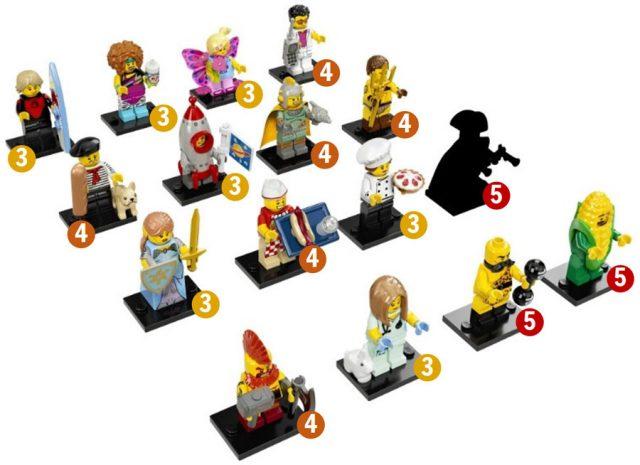 LEGO 71018 Collectible Minifigures Series 17 distribution boite 60
