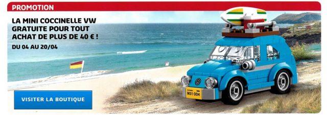 LEGO Creator 40252 Mini Volkswagen Beetle offert