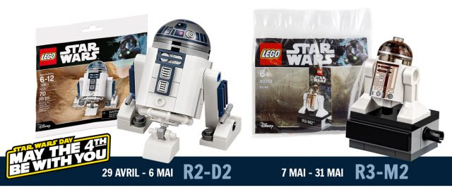 Polybags LEGO Star Wars 30611 R2-D2 et 40268 R3-M2