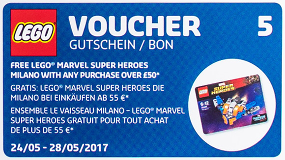 Calendrier LEGO 2017 coupon 5