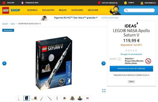 LEGO Ideas 21309 NASA Apollo Saturn V Shop