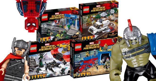 LEGO Marvel 2017 Thor Ragnarok Spiderman Homecoming