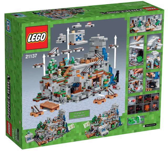 LEGO Minecraft 21137 The Mountain Cave back