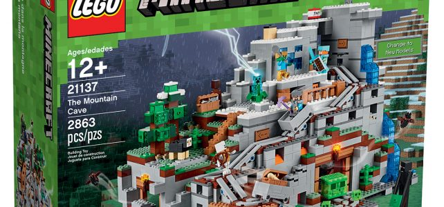 LEGO Minecraft 21137 The Mountain Cave box
