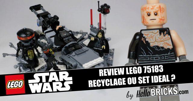 REVIEW LEGO Star Wars 75183 La transformation de Dark Vador