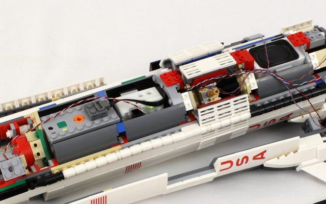 LEGO Saturn V inside