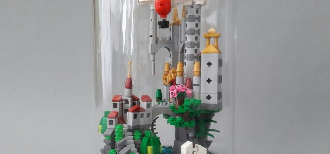 Mini château sous dôme de verre