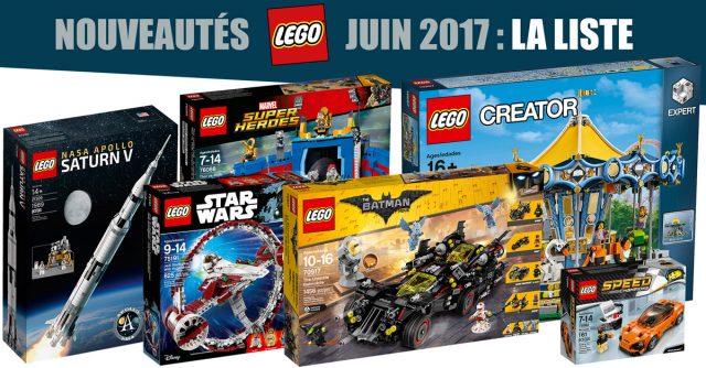 Nouveautés LEGO juin 2017