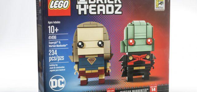 SDCC 2017 LEGO BrickHeadz 41496 Supergirl & Martian Manhunter