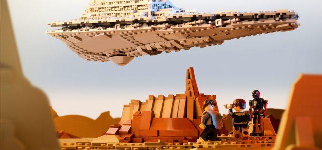 Star Wars Rogue One : l'Imperial Star Destroyer au dessus de la cité de Jedha