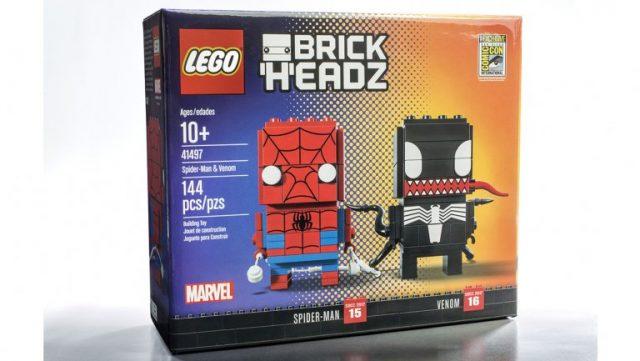 SDCC 2017 LEGO BrickHeadz Marvel Spider-Man & Venom