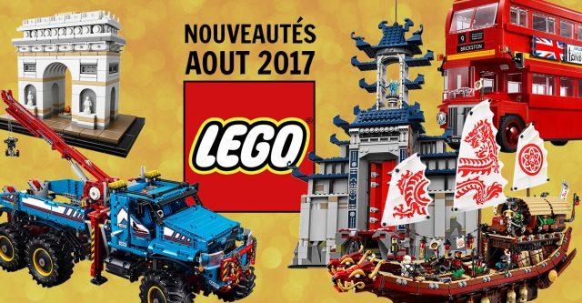 Liste nouveautés LEGO août 2017