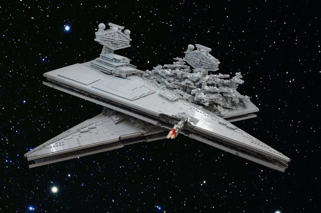 Star Wars Rogue One Star Destroyers crash