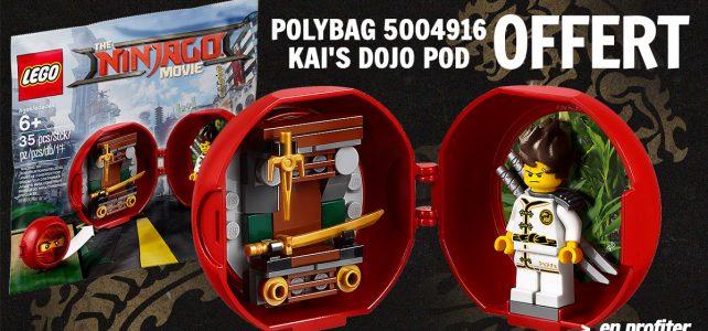 Polybag 5004916 Kai's Dojo Pod offert