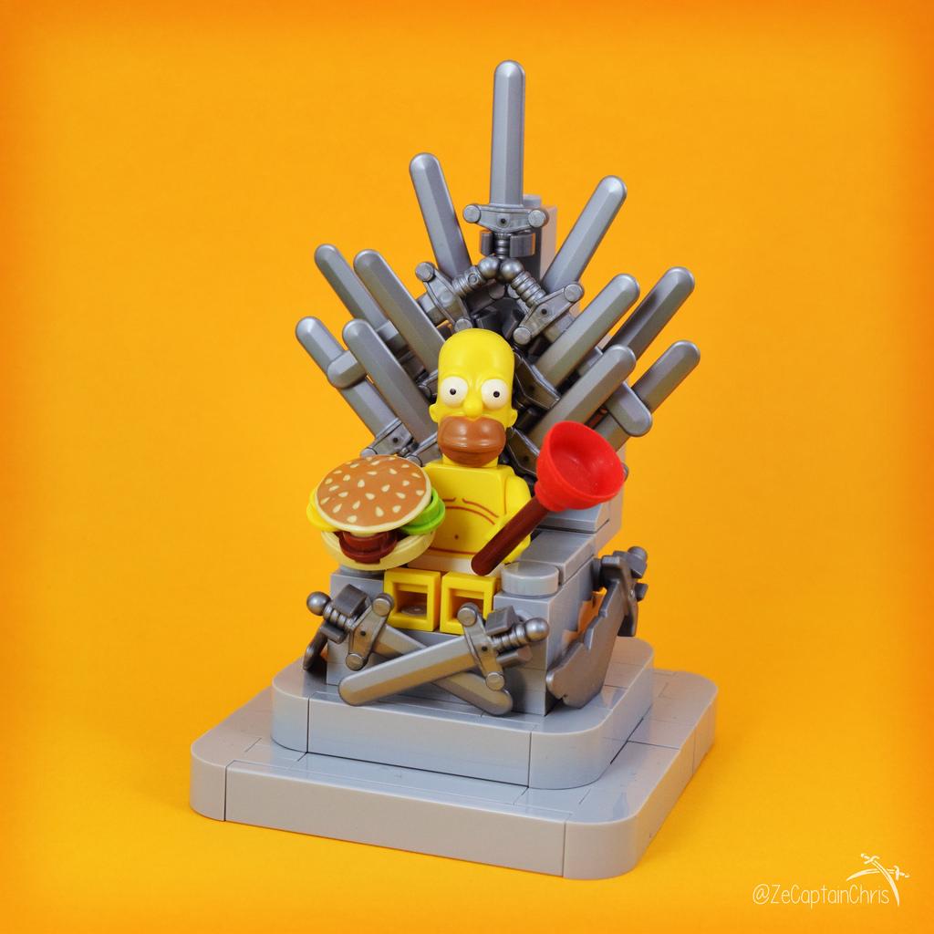 Game of thrones ze throne of homer hellobricks blog lego - Homer simpson nu ...