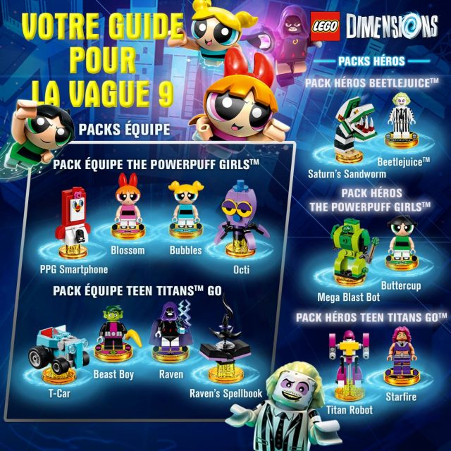 LEGO Dimensions Vague 9 - Beetlejuice - Teen Titans Go - Powerpuff Girls