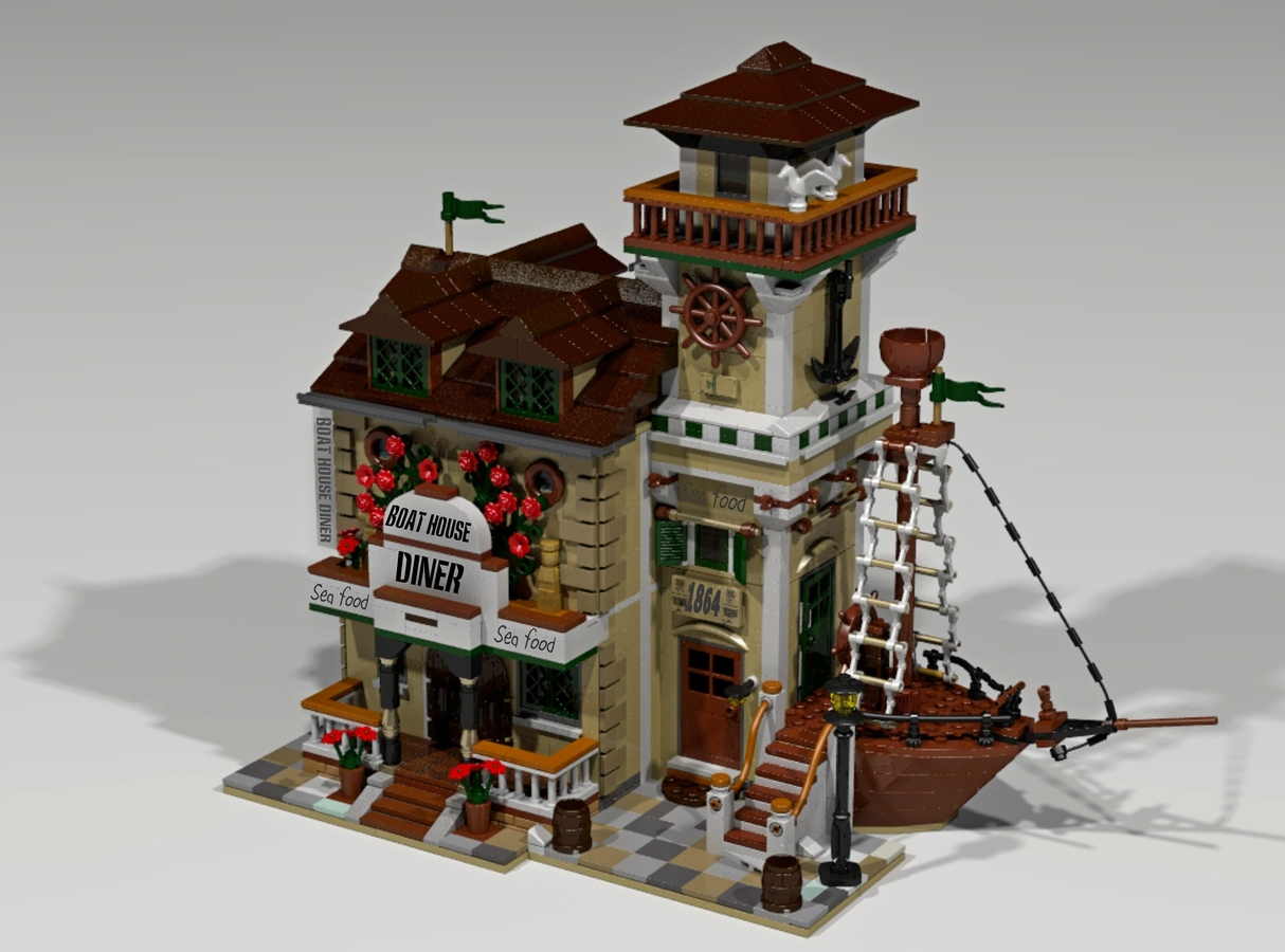 Lego ideas apr s le old fishing store 10000 votes pour for Lego old fishing store