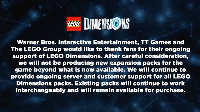 LEGO Dimensions officiellement fini