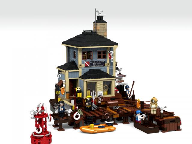 LEGO Ideas dive shop Robert Bontenbal