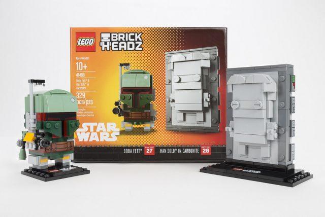 NYCC 2017 LEGO BrickHeadz 41498 Boba Fett & Han Solo in Carbonite