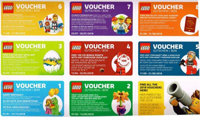 Calendrier officiel LEGO 2018 vouchers