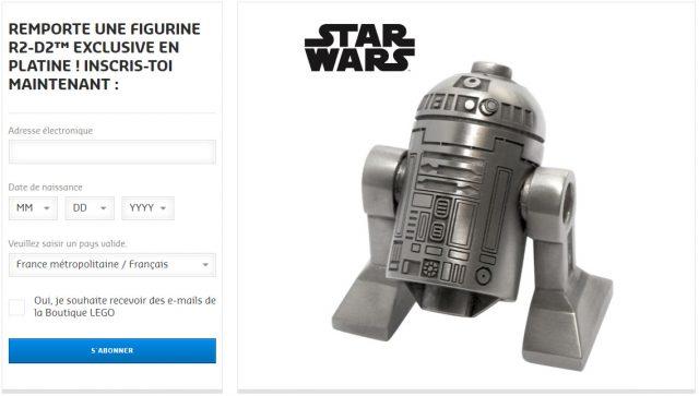 Concours LEGO Star Wars R2-D2 platine